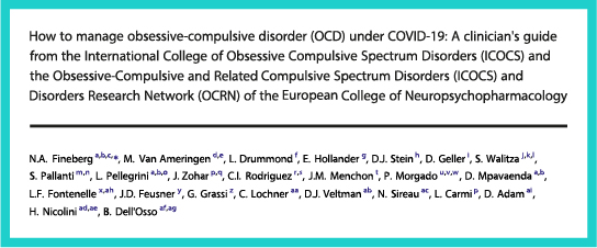 How to manage obsessive-compulsive disorder (OCD) under COVID-19